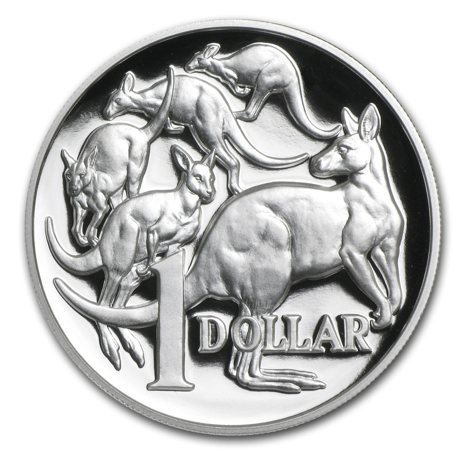 2014 1 oz Silver High Relief Kangaroo 30th Anniv Proof