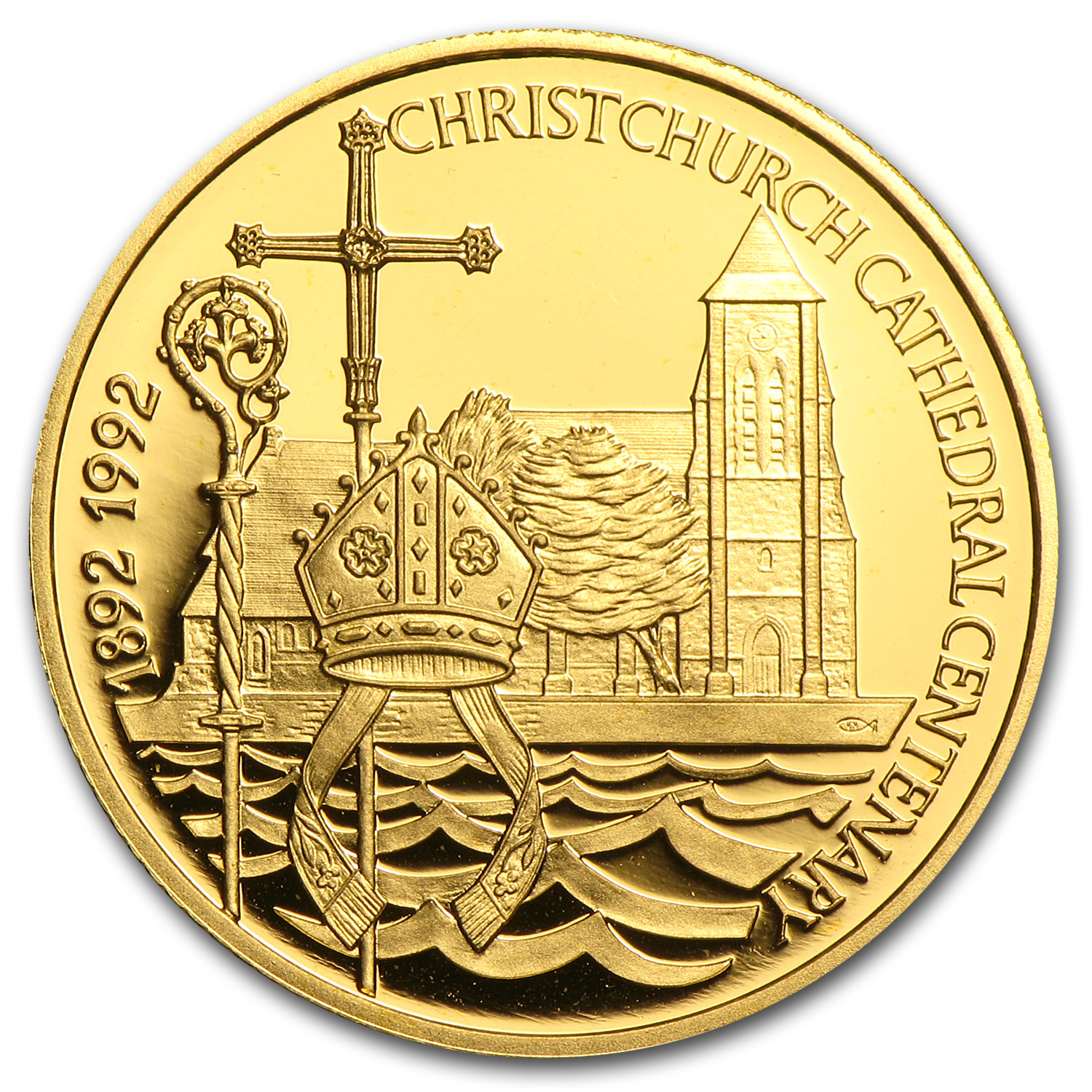 Falkland Islands 1992 Gold 25 Pounds Proof