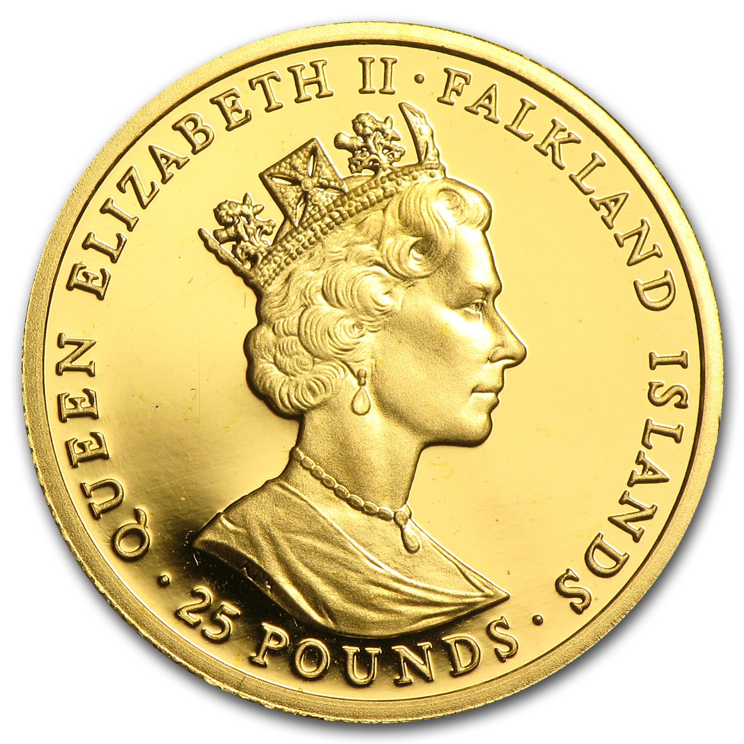 1992 Falkland Islands Gold 25 Pounds Proof