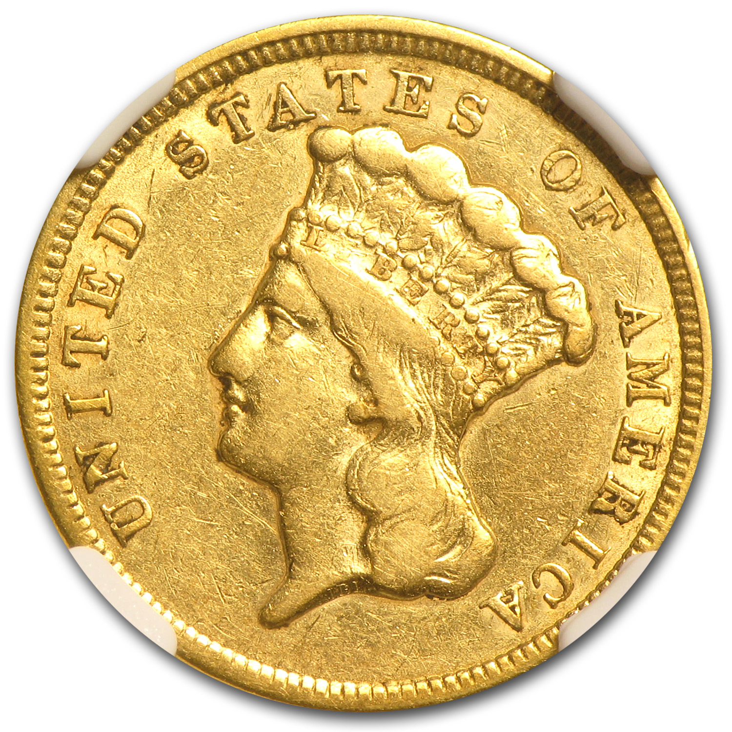 1854 $3 Gold Princess EF Details NGC (Improperly Cleaned)