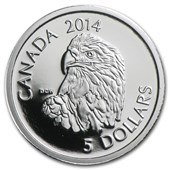 2014 Canada 1/10 oz Proof Platinum $5 Bald Eagle