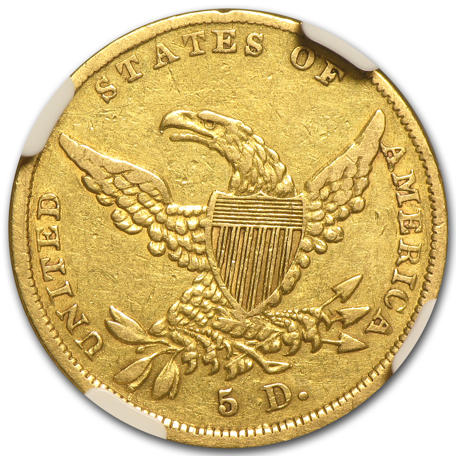 1837 $5 Gold Classic Head Half Eagle - VF Details NGC