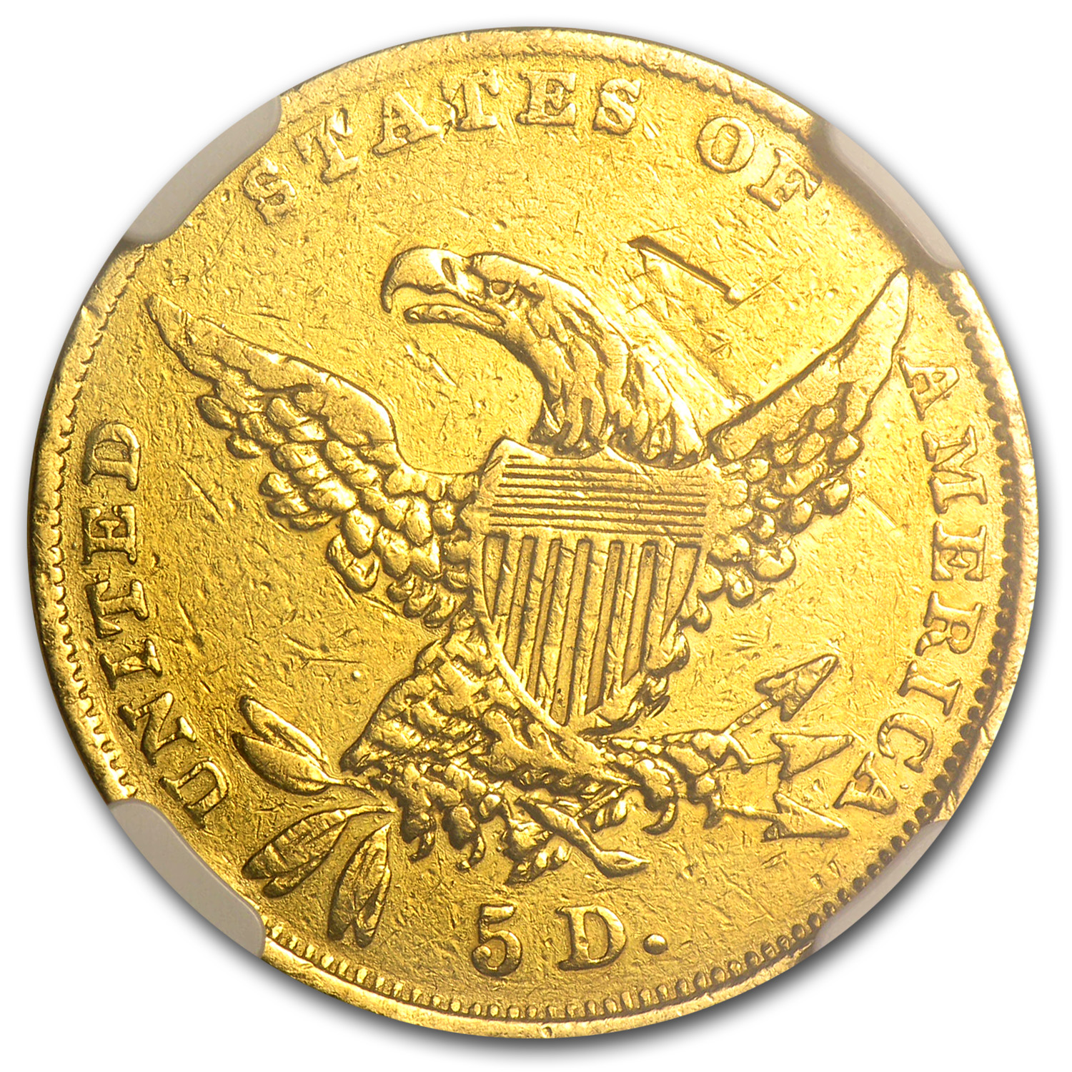 1835 $5 Gold Classic Head Half Eagle - XF Details NGC - (Mount)