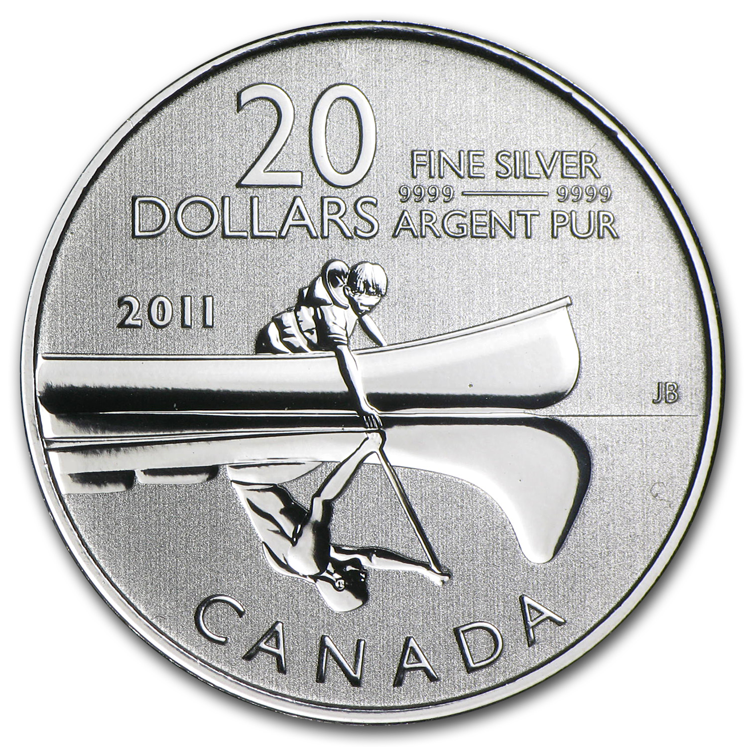2011 1/4 oz Silver Canadian $20 Canoe Coin (Coin Only)