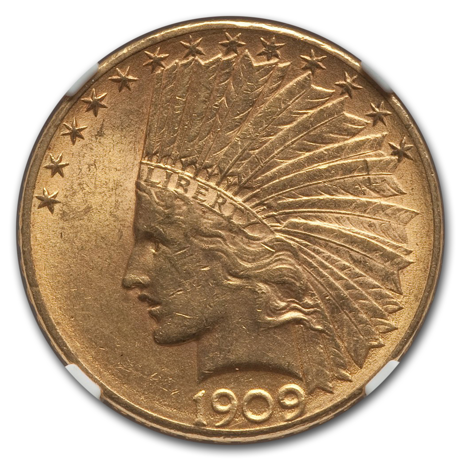 1909-D $10 Indian Gold Eagle - MS-62 NGC