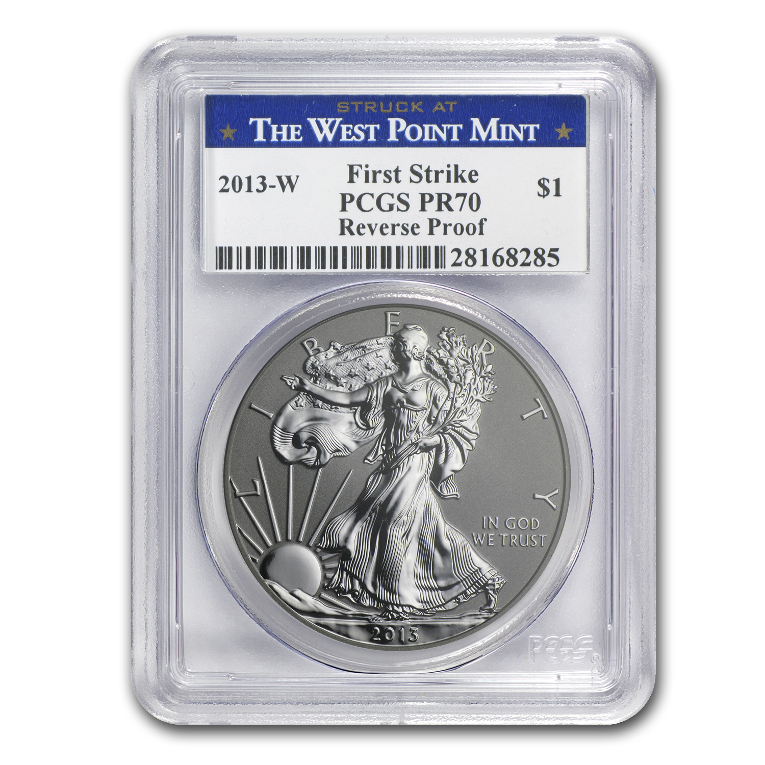 2013 2-Coin Silver Eagle Set MS/PR-70 PCGS (FS, WP Label)