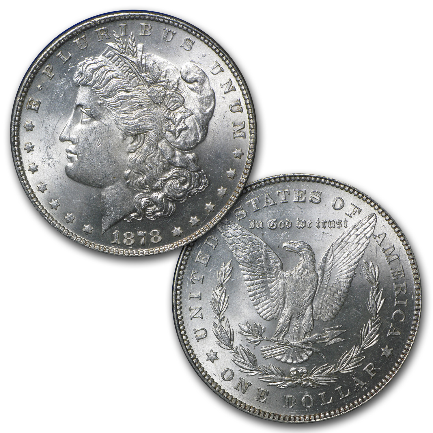 1878 5-Coin Morgan Dollar Set BU