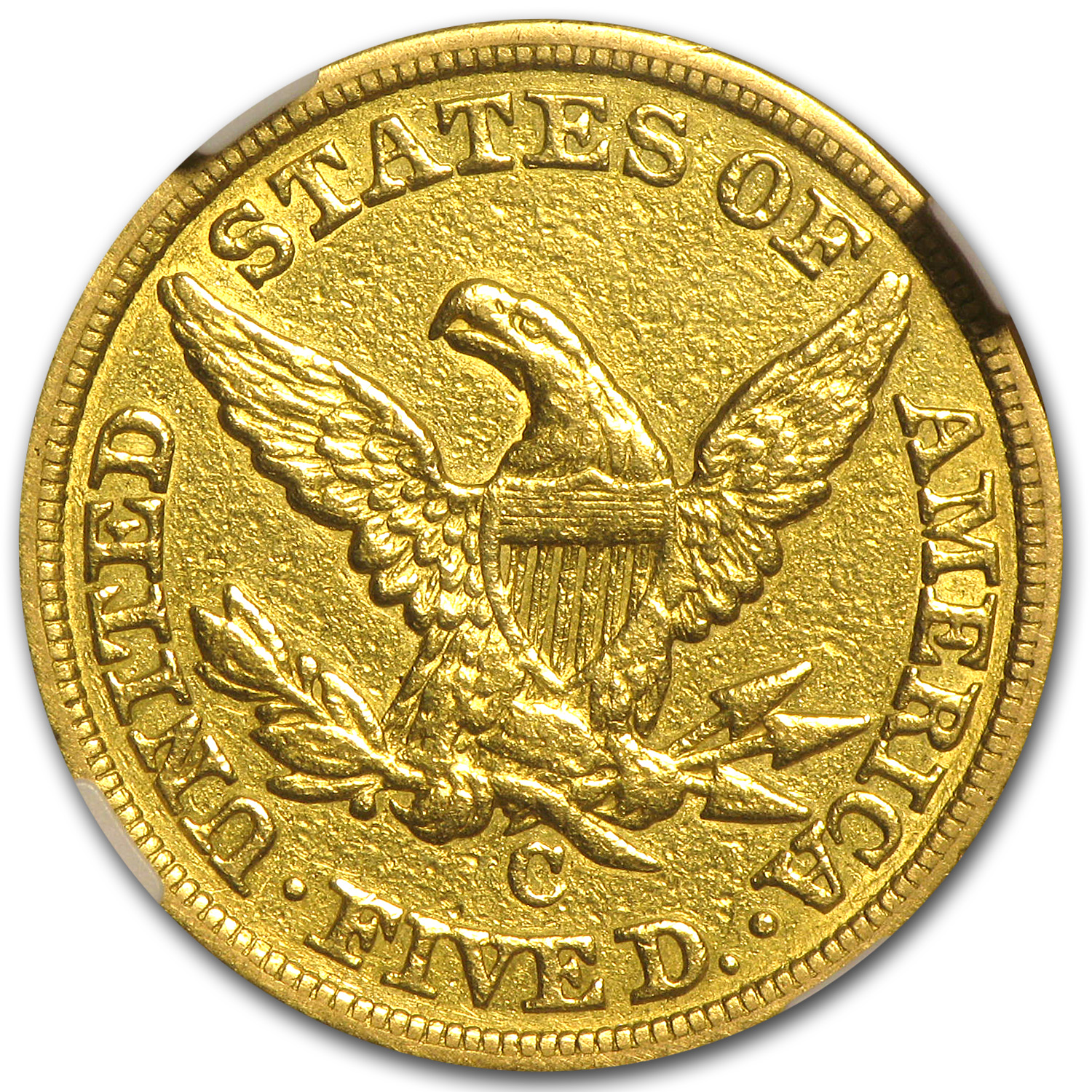1848-C $5 Liberty Gold Half Eagle XF Details NGC (Cleaned)