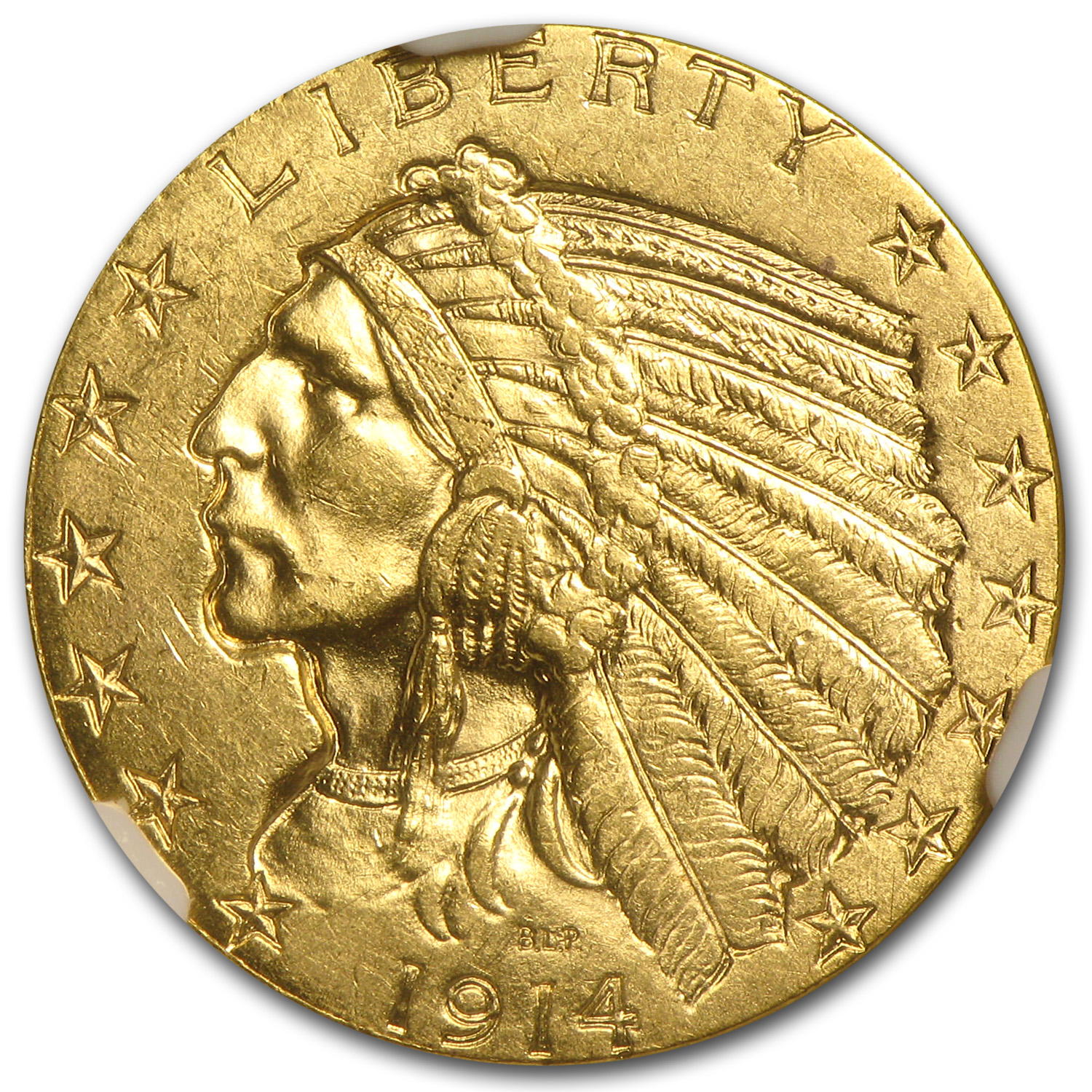 1914 $5 Indian Gold Half Eagle - MS-61 NGC