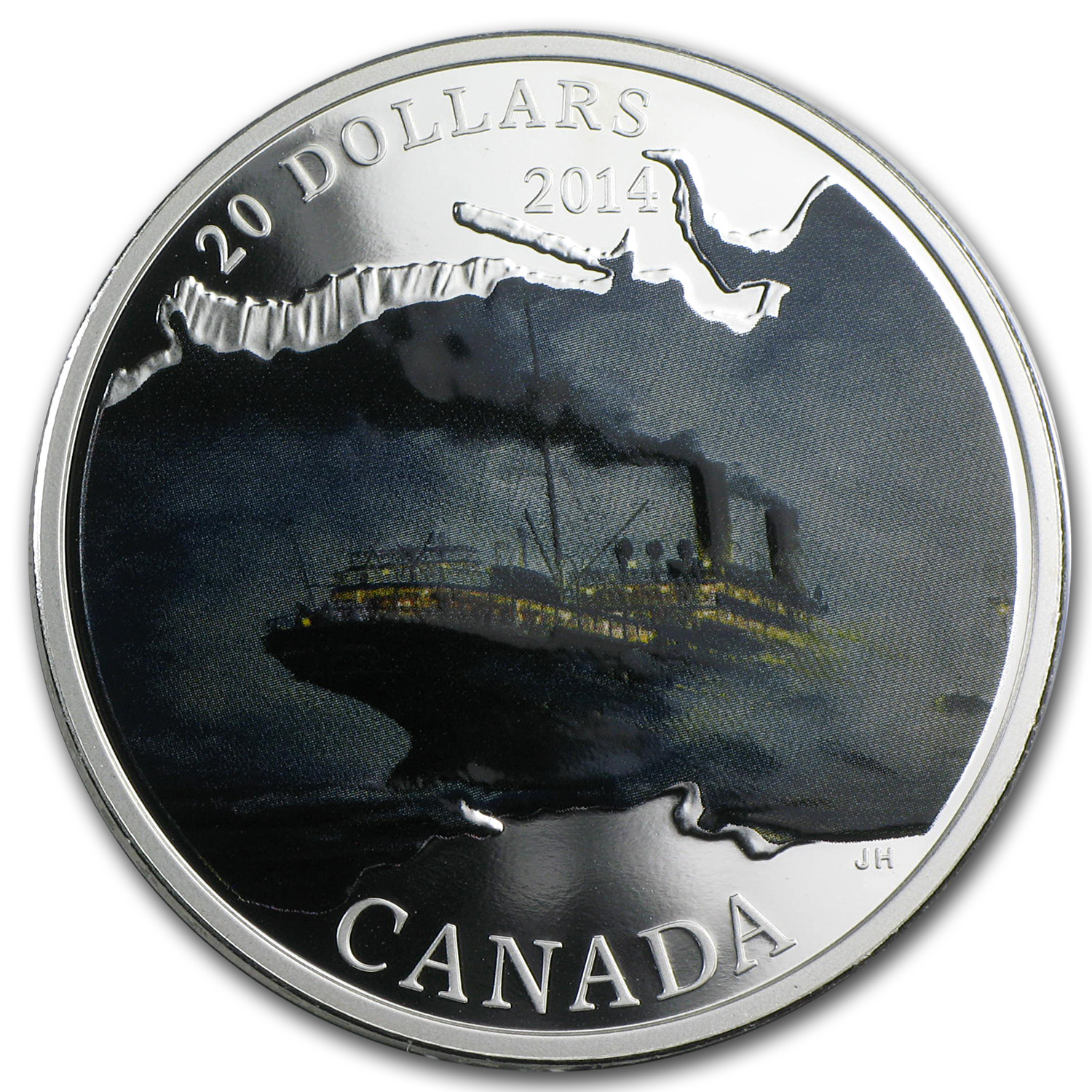 2014 1 oz Silver Canadian Lost Ships - R.M.S Empress of Ireland
