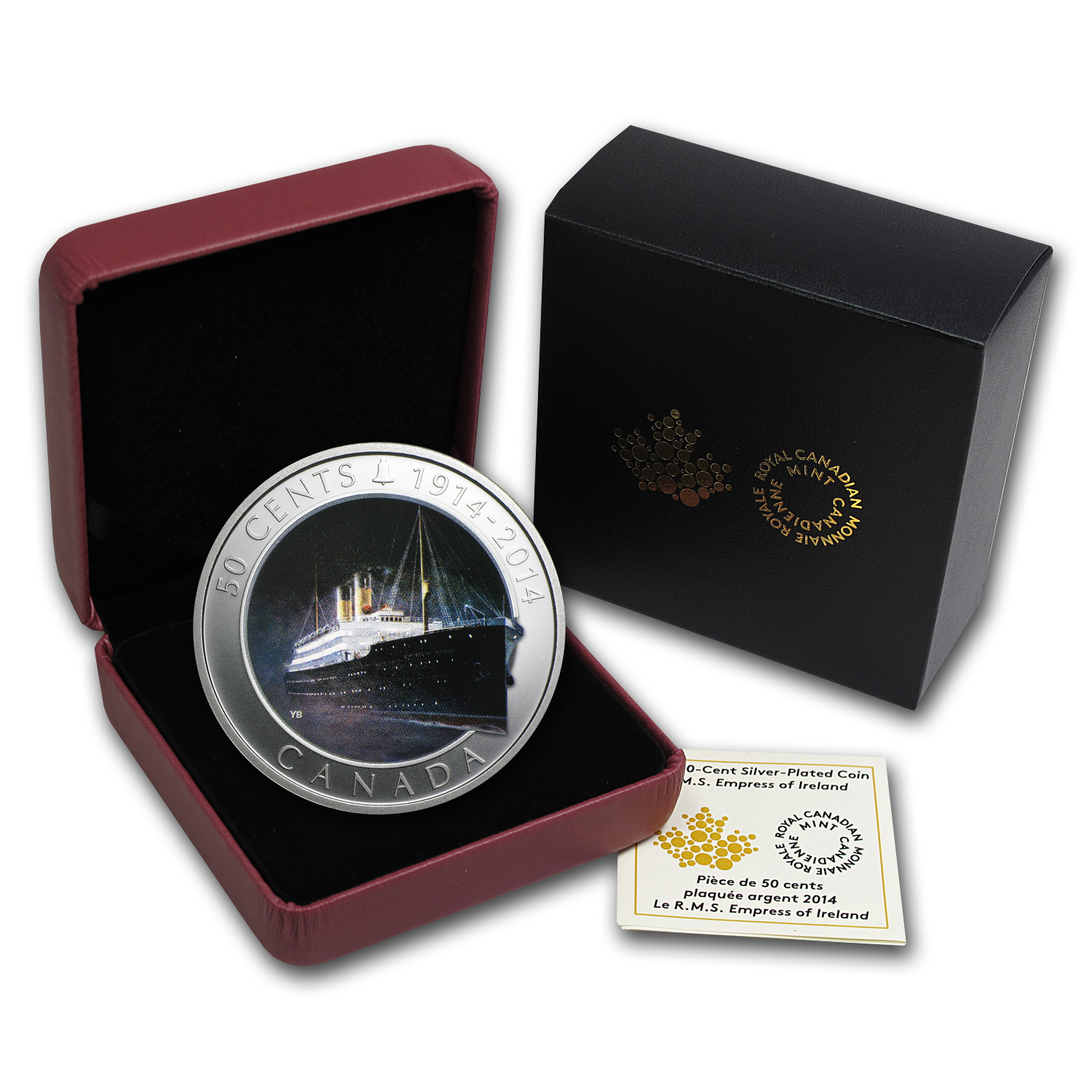 2014 Canada Silver-Plated Lost Ships R.M.S. Empress of Ireland