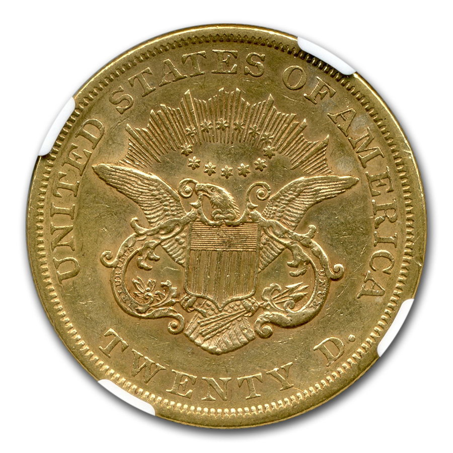 1854/1854 $20 Liberty Gold Double Eagle AU-53 NGC (VP-001)