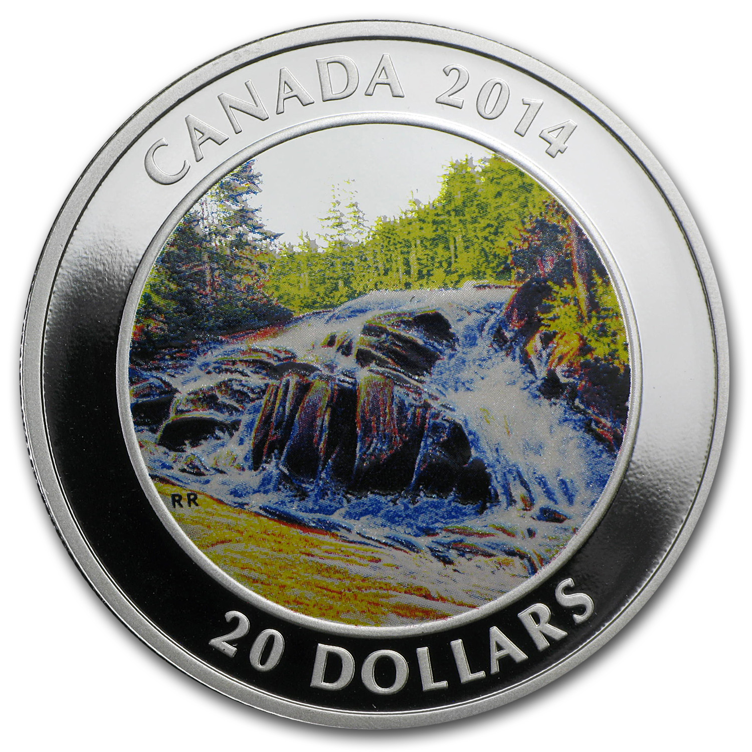 2014 1 oz Silver Canadian $20 River Rapids