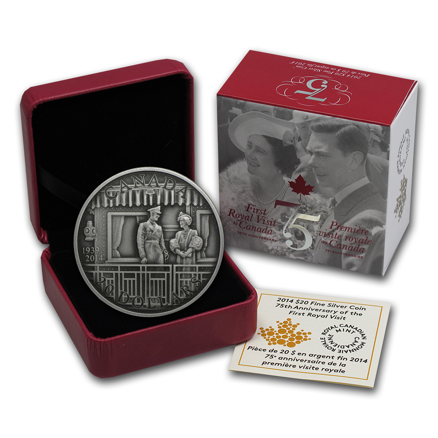 2014 1 oz Silver Canadian 75th Anniv. of the First Royal Visit