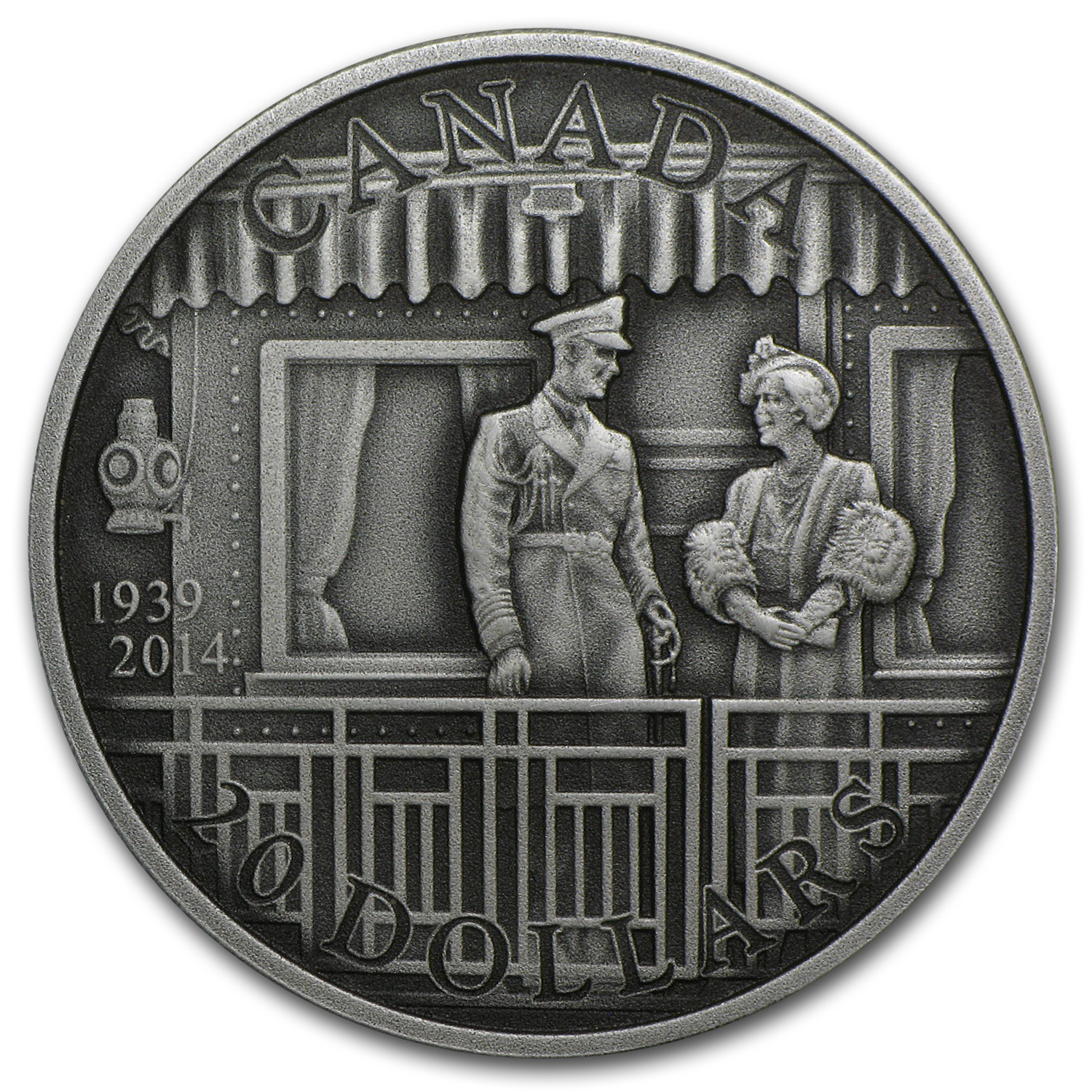 2014 Canada 1 oz Silver 75th Anniv of the First Royal Visit