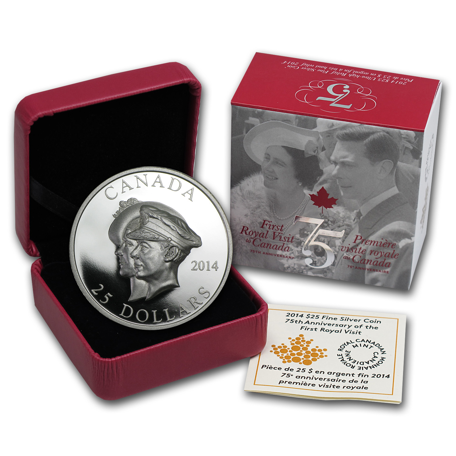 2014 UHR Silver Canadian 75th Anniv. of the First Royal Visit