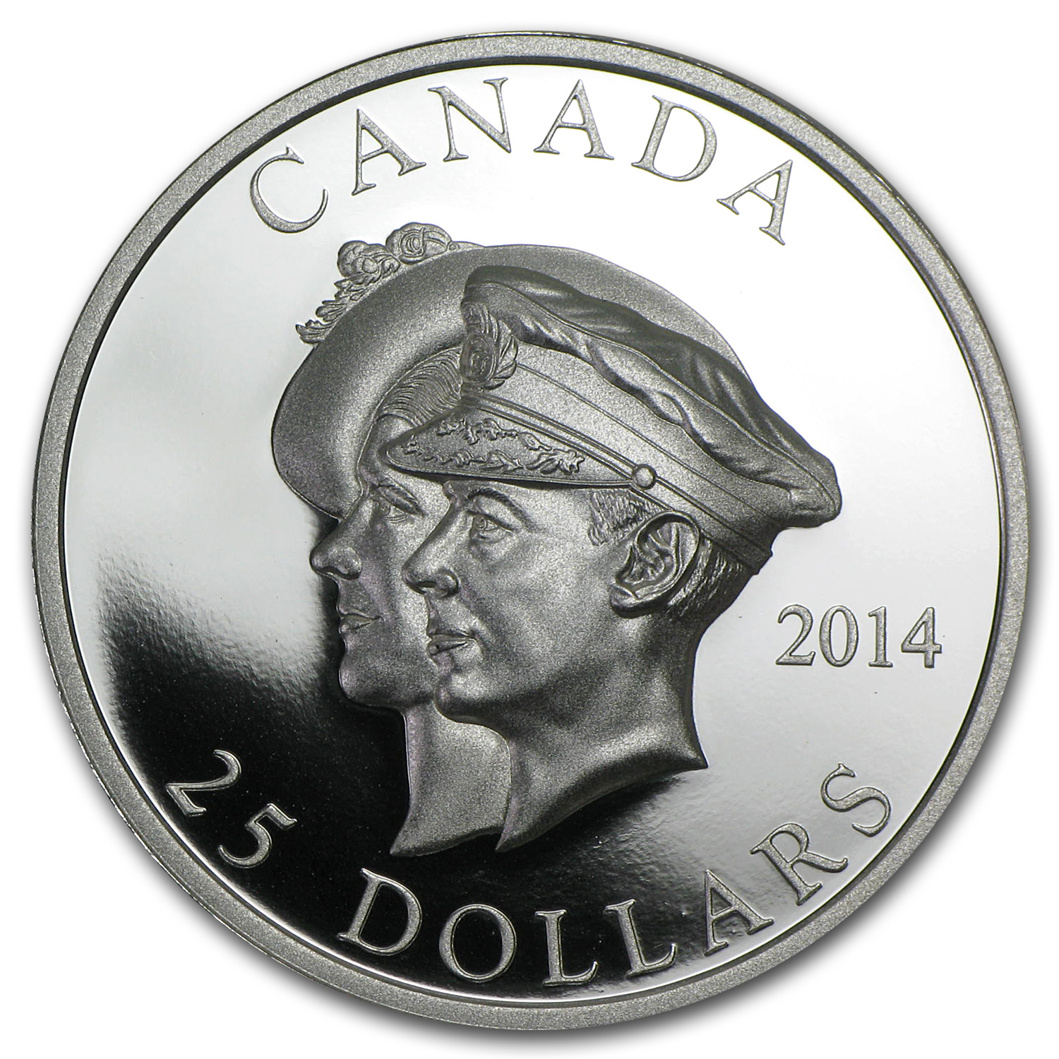 2014 Canada 1 oz Silver 75th Anniv of the First Royal Visit (UHR)