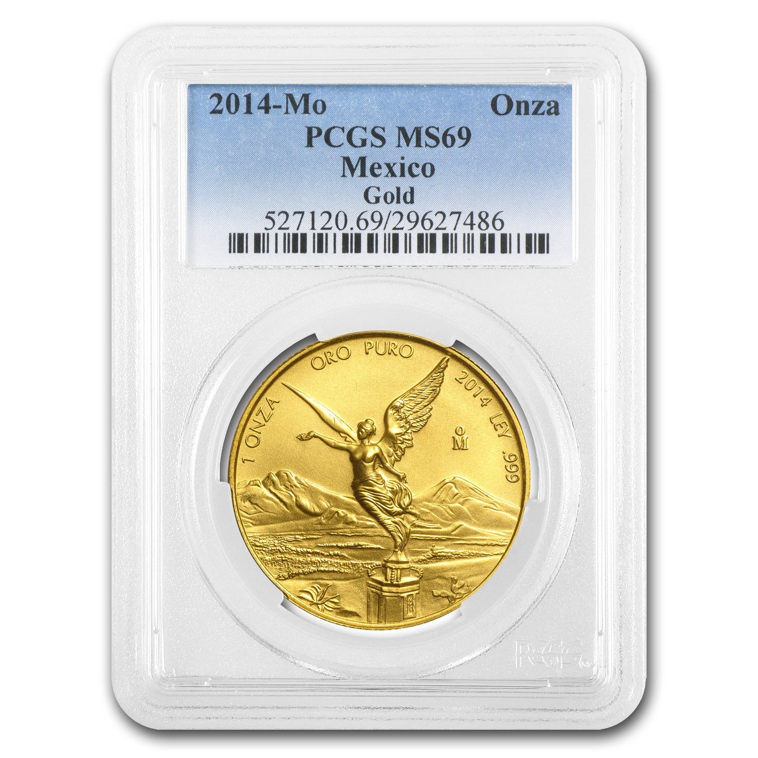 2014 1 oz Gold Mexican Libertad MS-69 PCGS
