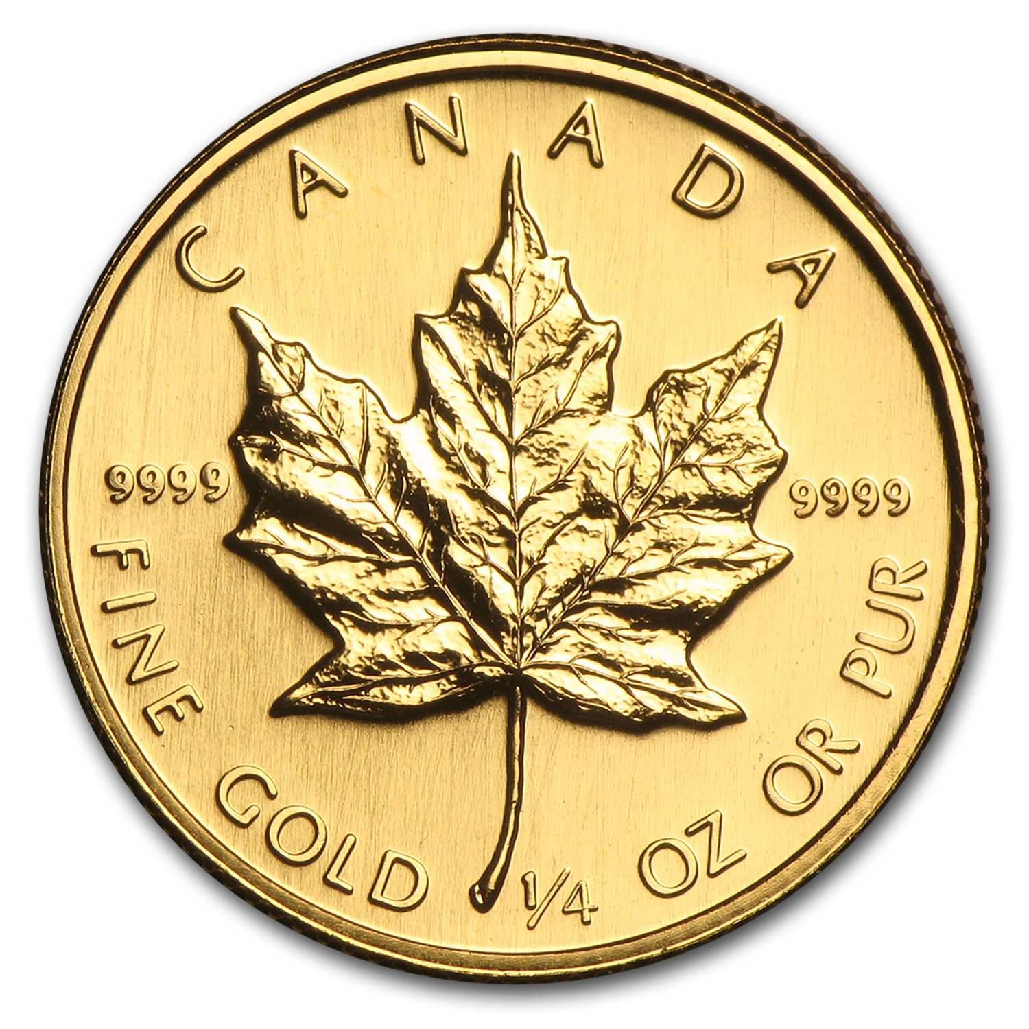 1988 Canada 1/4 oz Gold Maple Leaf BU