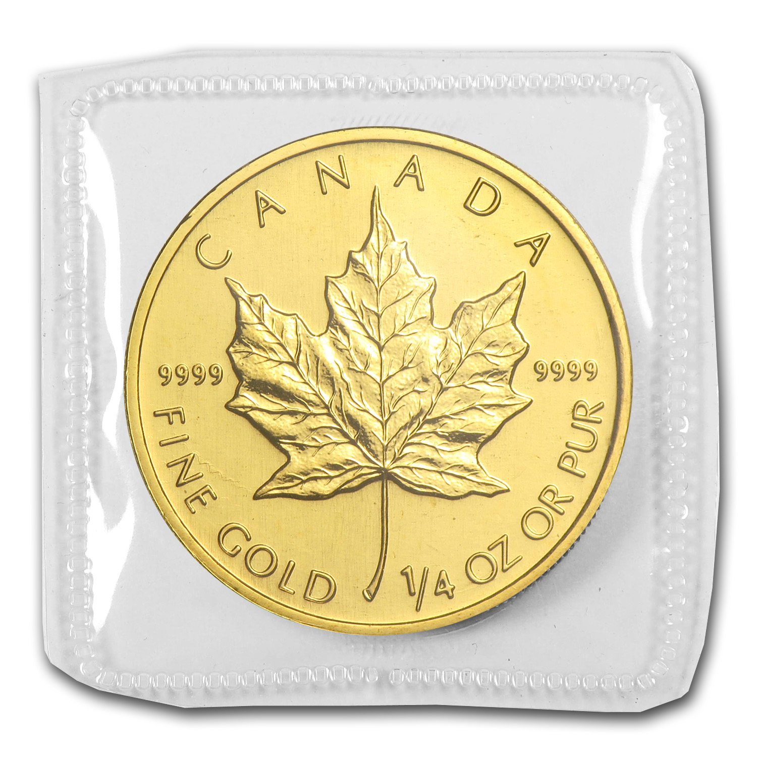 2001 1/4 oz Gold Canadian Maple Leaf