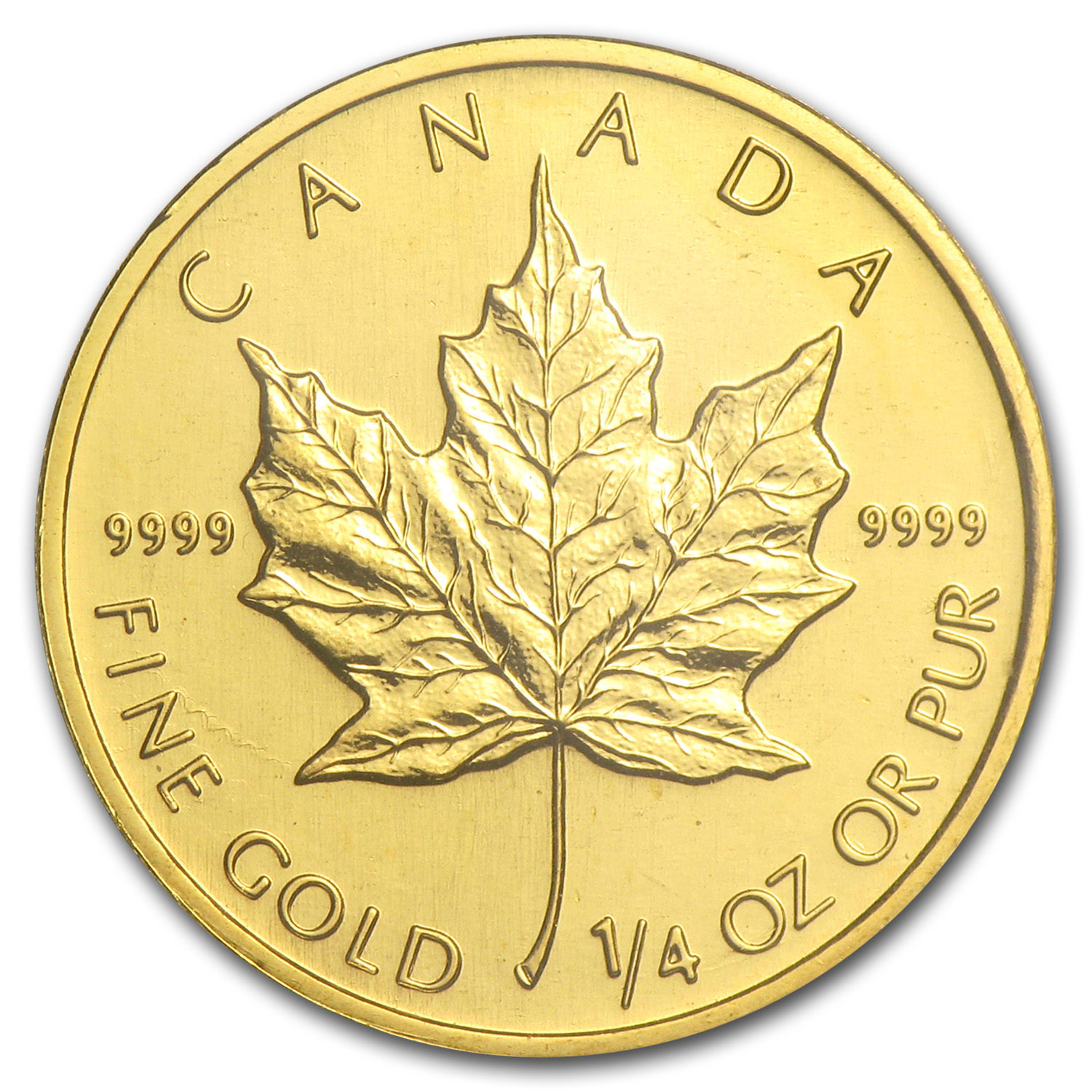 2001 Canada 1/4 oz Gold Maple Leaf BU
