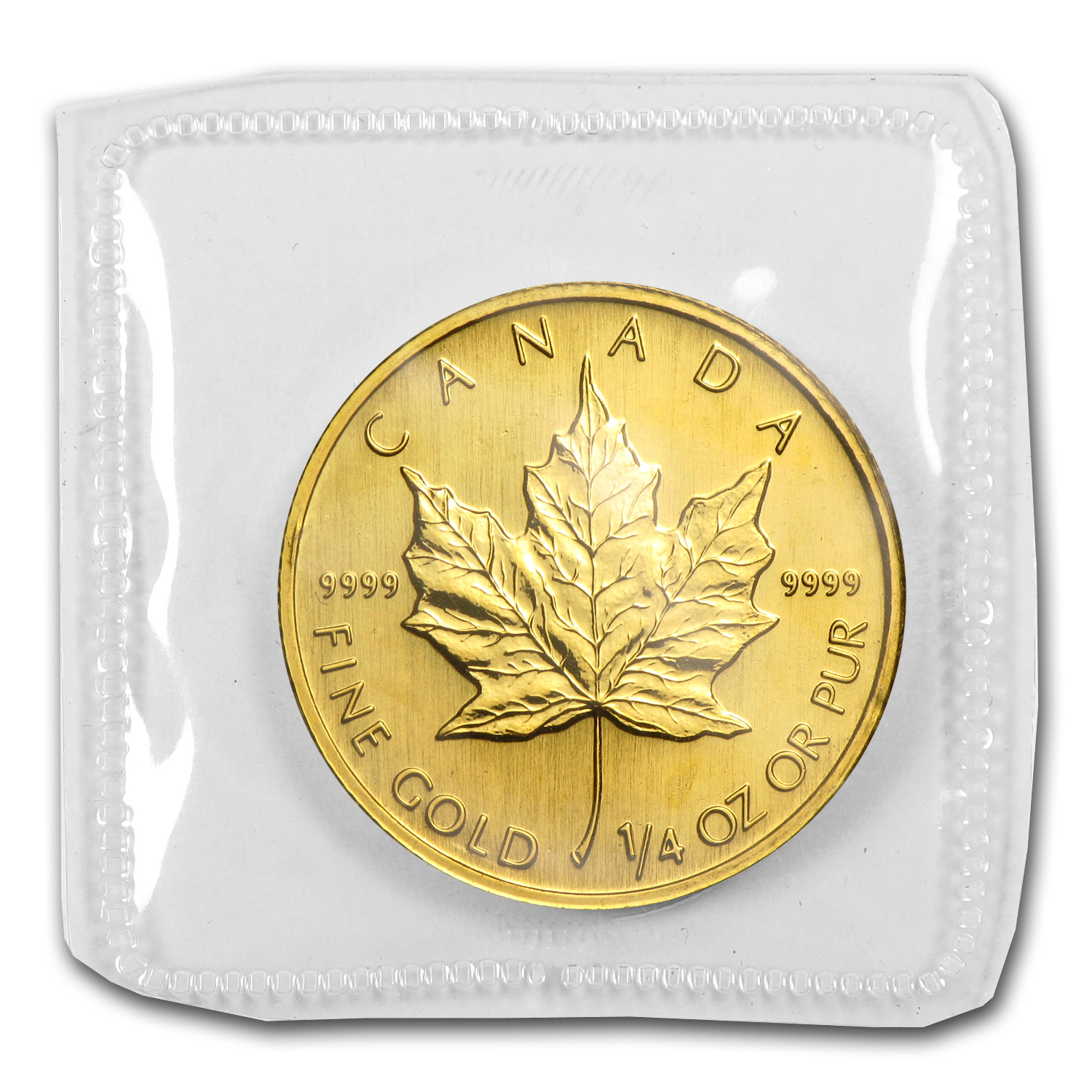 1998 1/4 oz Gold Canadian Maple Leaf