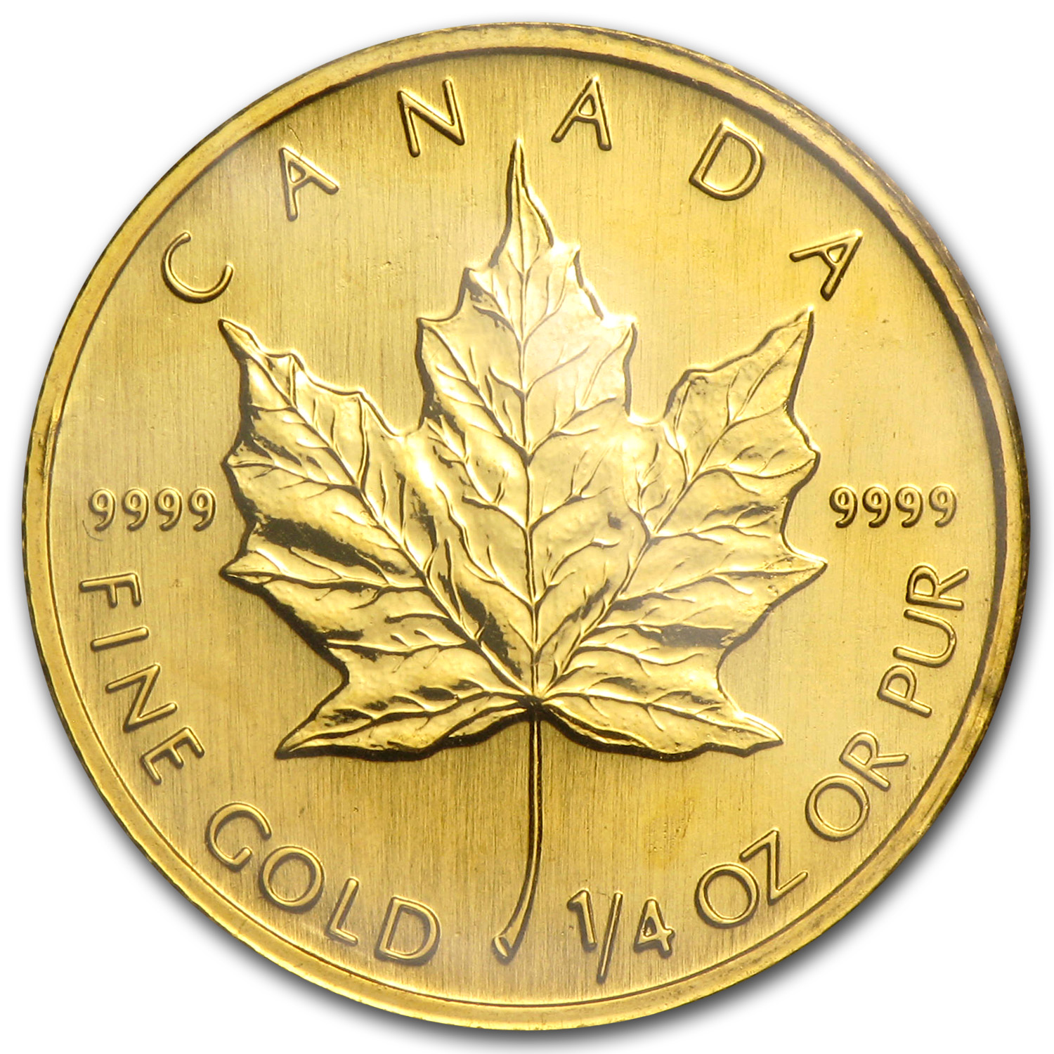 1998 Canada 1/4 oz Gold Maple Leaf BU