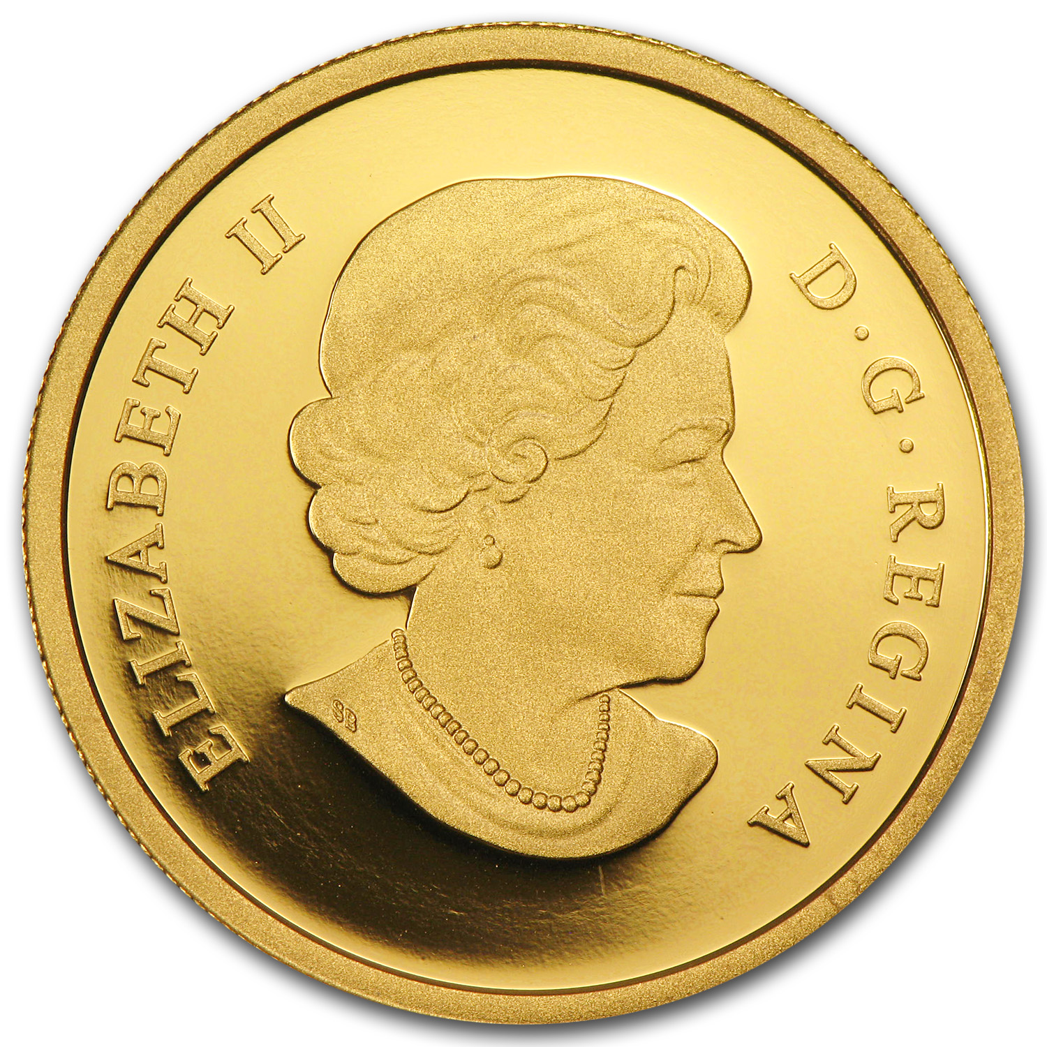 2014 1 oz Gold Canadian 75th Anniv. of First Royal Visit UHR