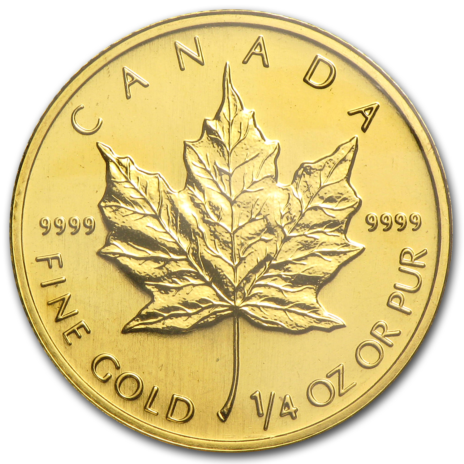 1997 1/4 oz Gold Canadian Maple Leaf BU