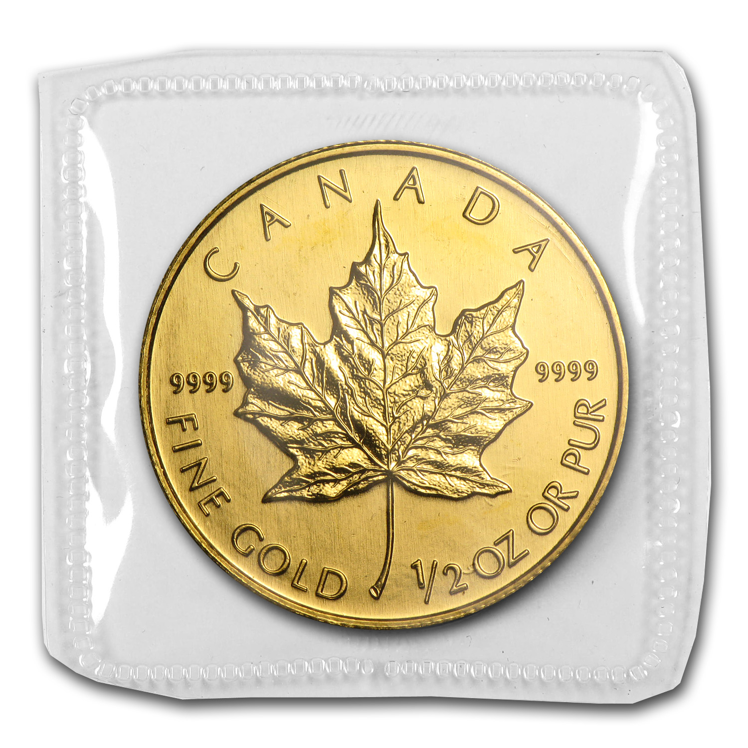 2003 1/2 oz Gold Canadian Maple Leaf BU