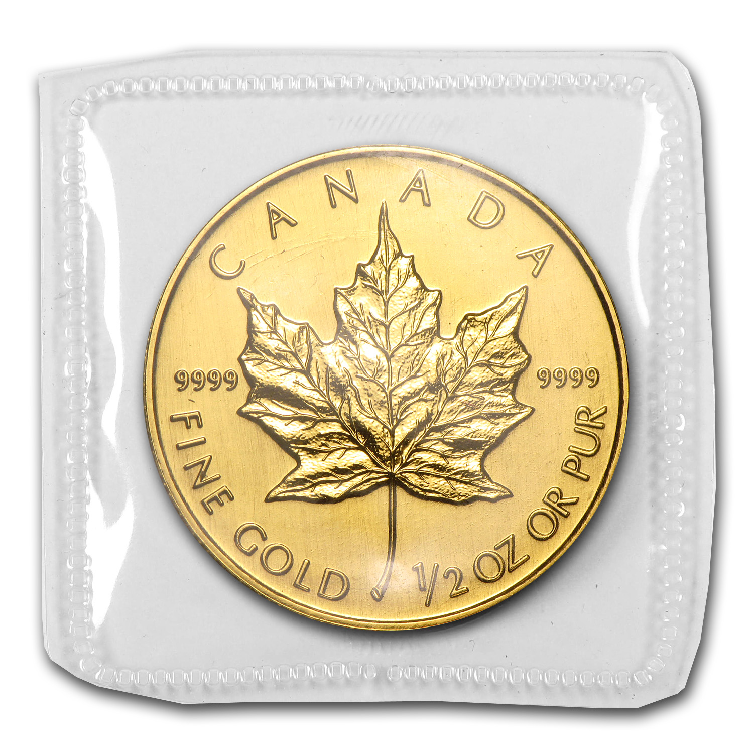 1992 Canada 1/2 oz Gold Maple Leaf BU