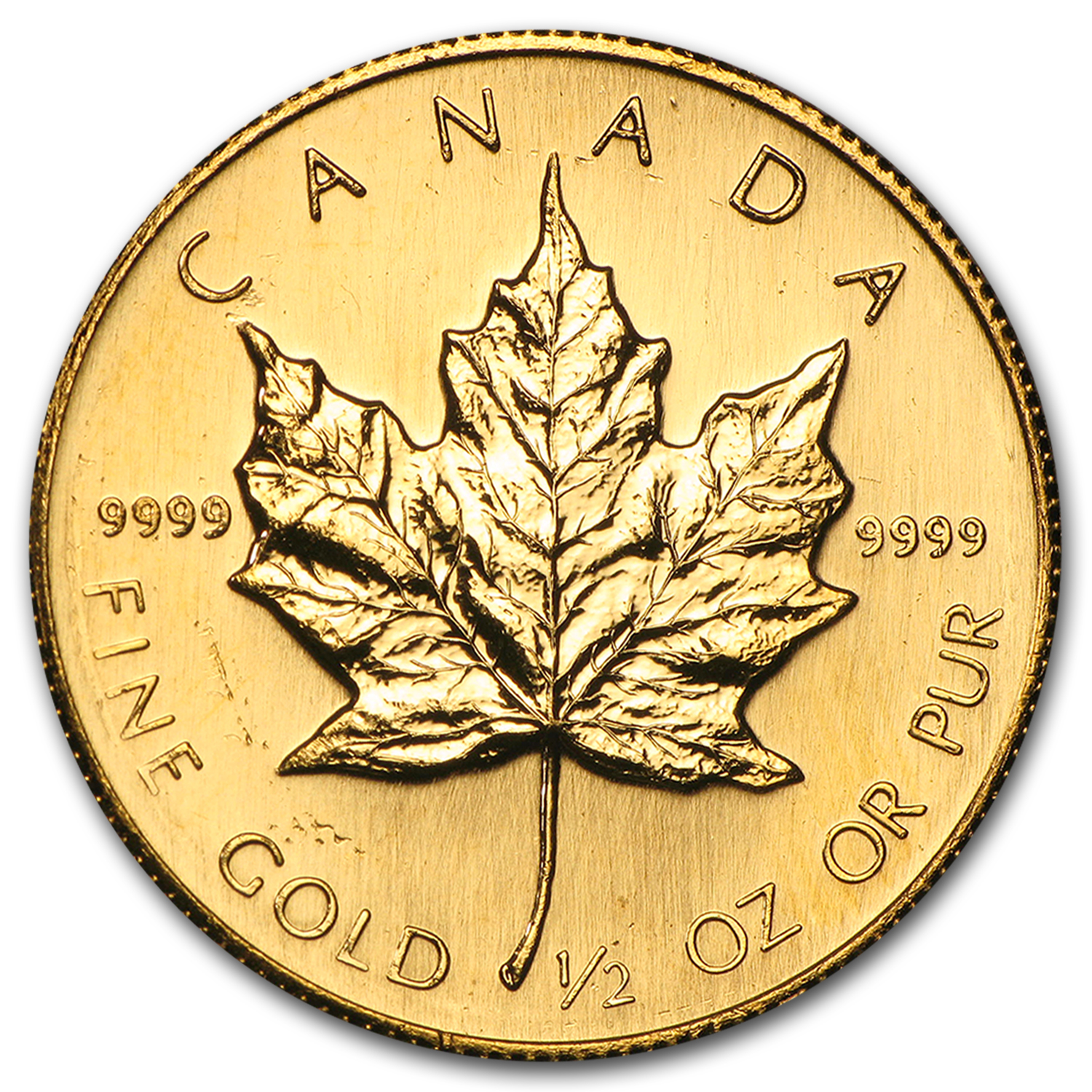 1986 Canada 1/2 oz Gold Maple Leaf BU