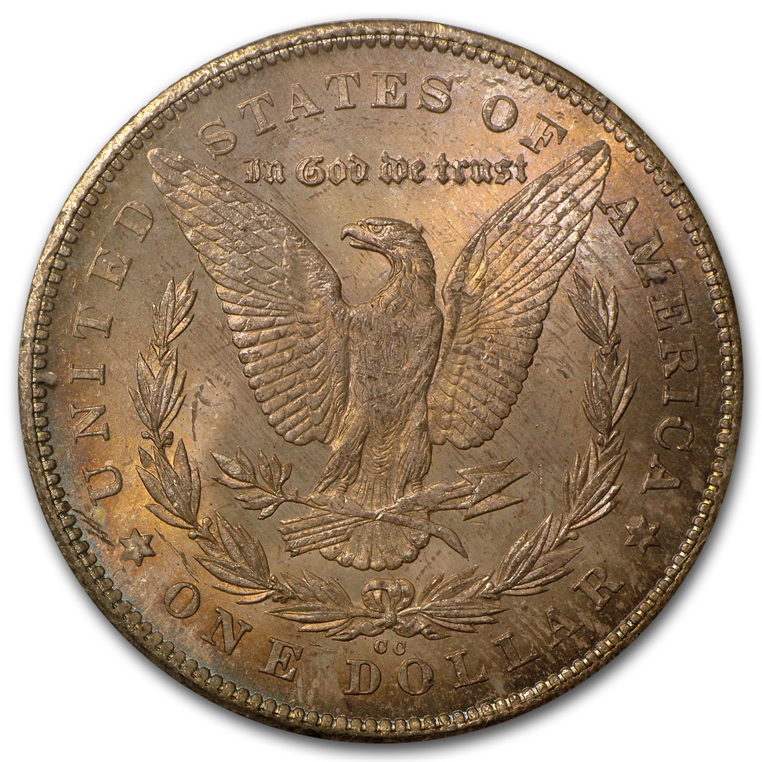 1878-CC Morgan Dollar MS-64 PCGS (Old Rattler Holder, Toned)