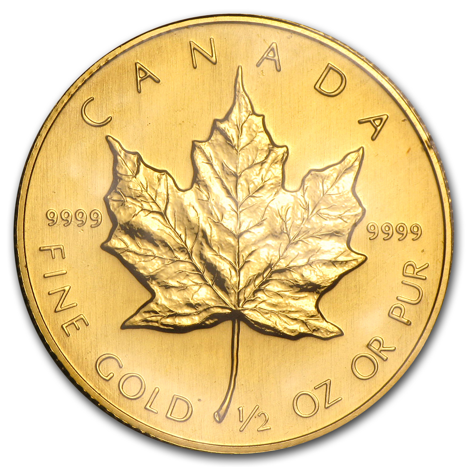 1989 1/2 oz Gold Canadian Maple Leaf - Brilliant Uncirculated