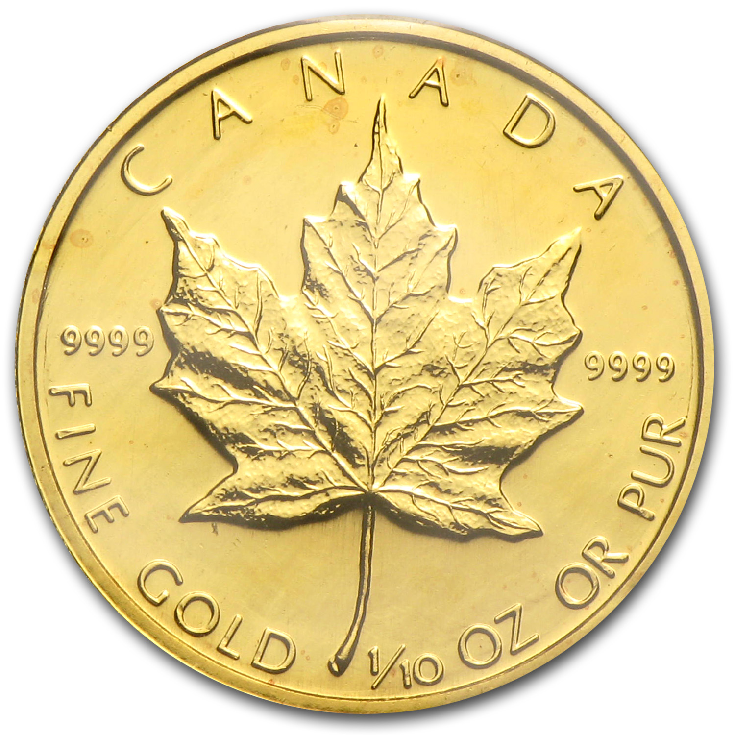 1984 Canada 1/10 oz Gold Maple Leaf BU