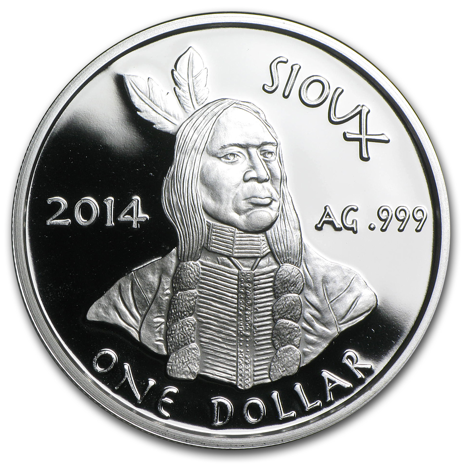 Oglala Sioux Tribe 2014 1 oz Silver Proof Coin