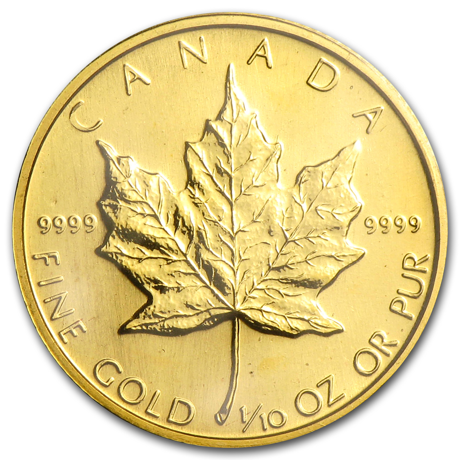 1987 Canada 1/10 oz Gold Maple Leaf BU