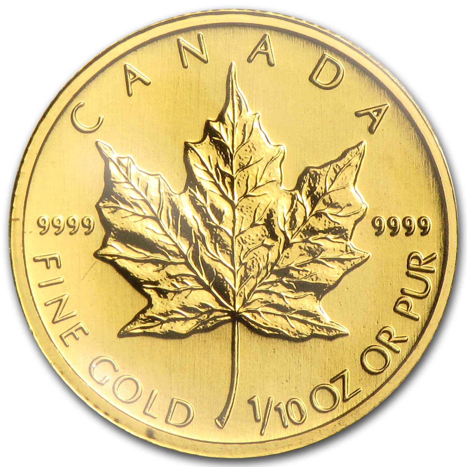 1993 Canada 1/10 oz Gold Maple Leaf BU