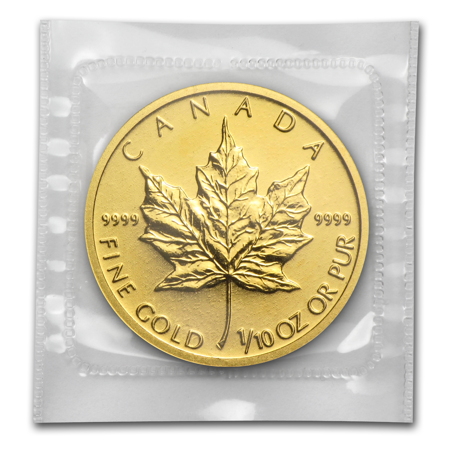 2010 1/10 oz Gold Canadian Maple Leaf