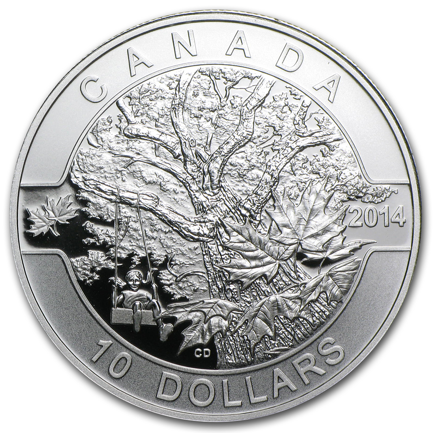 2014 1/2 oz Silver Canadian O'Canada - Down By the Old Maple Tree