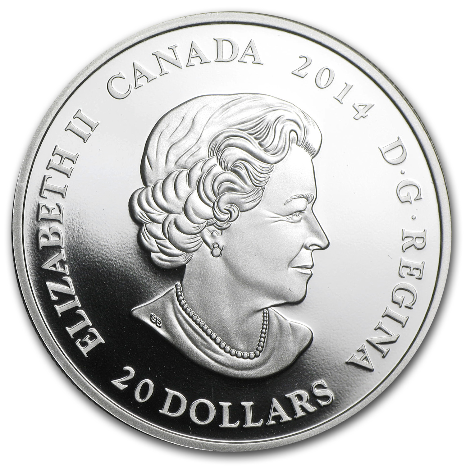 2014 1 oz Silver Canadian $20 Craigdarroch Castle (Stained Glass)