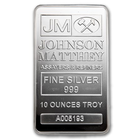 Johnson Matthey 10 Oz Silver Bars For Sale Buy Johnson