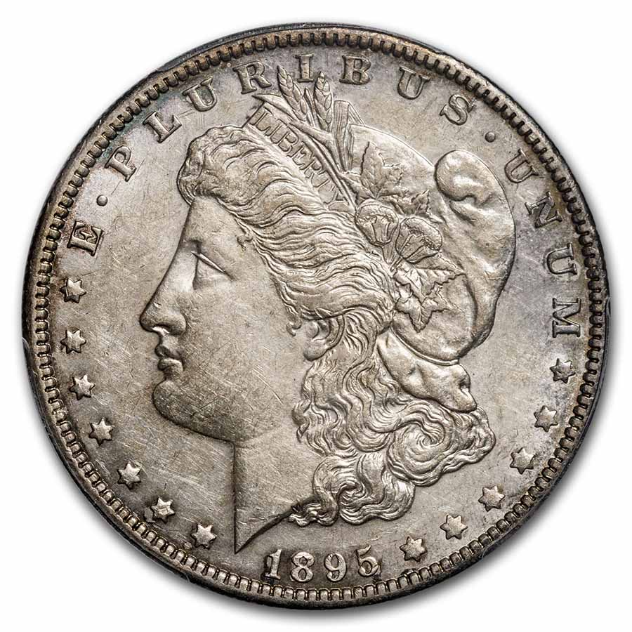 1895-O Morgan Dollar Almost Uncirculated-53 PCGS