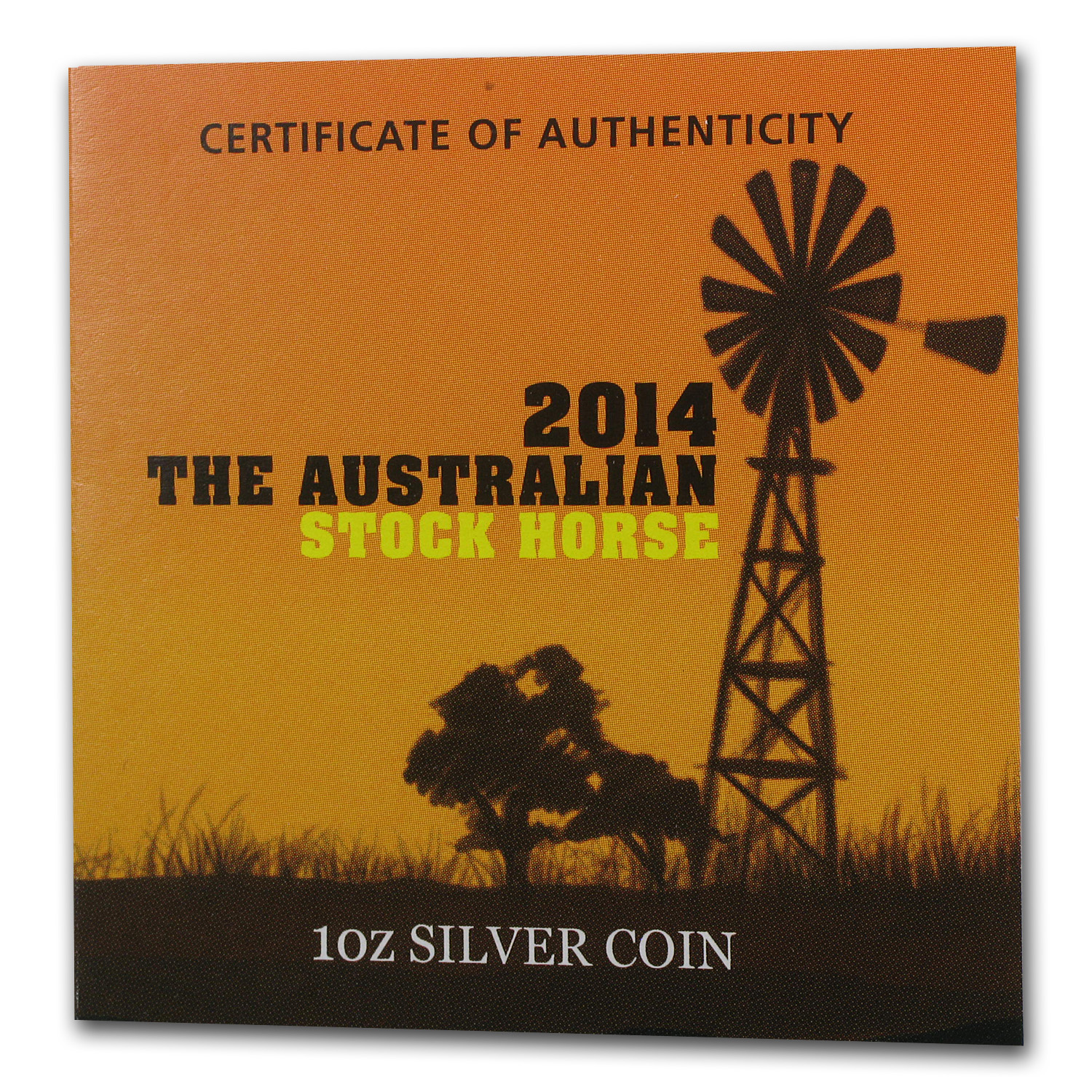 2014 1 oz Silver Australian Stock Horse MS-70 First Strike PCGS