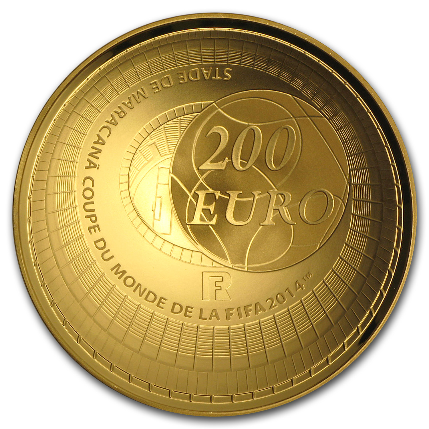 2014 France 200€ 1 oz Gold Proof FIFA World Cup
