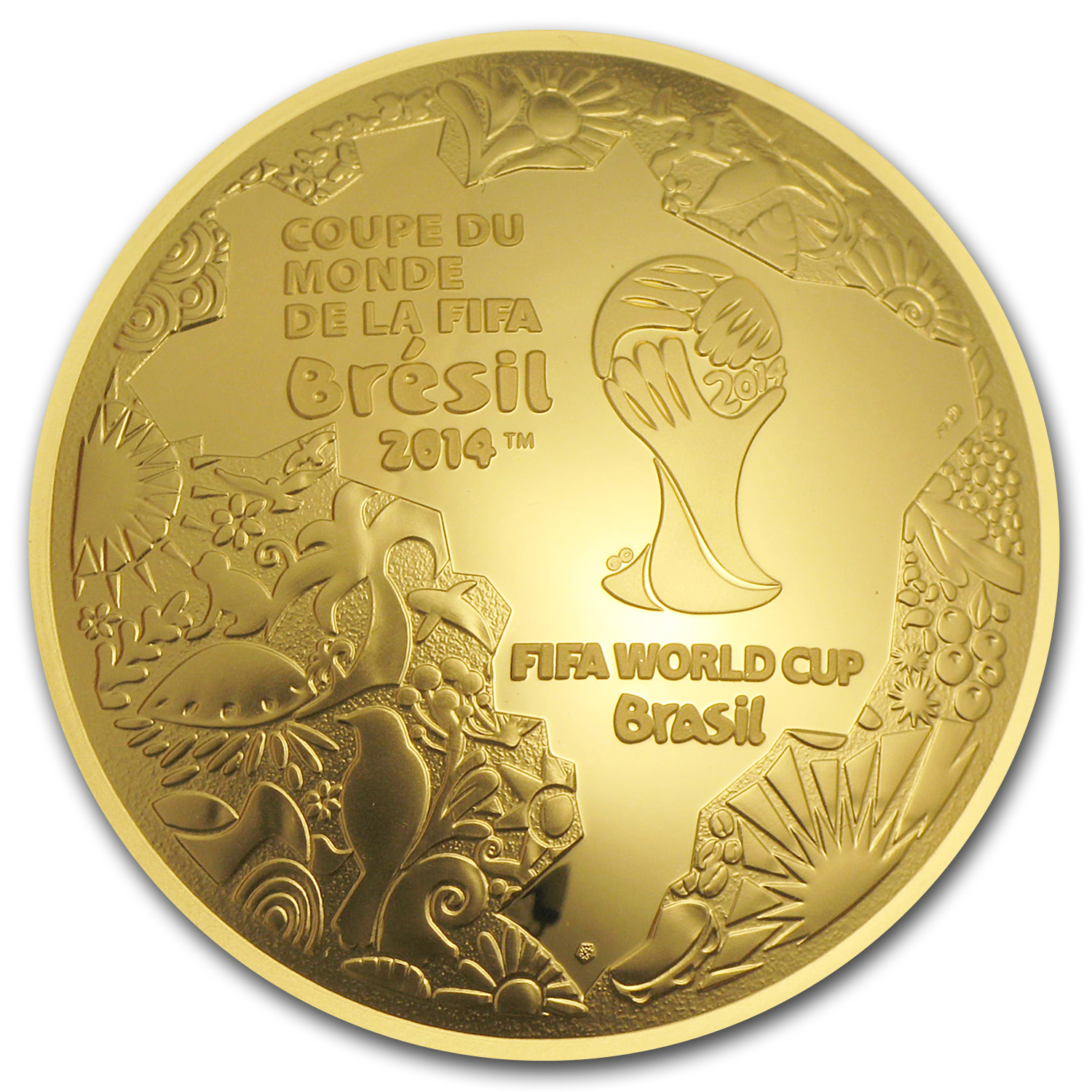 2014 France 1 oz Proof Gold €200 FIFA World Cup