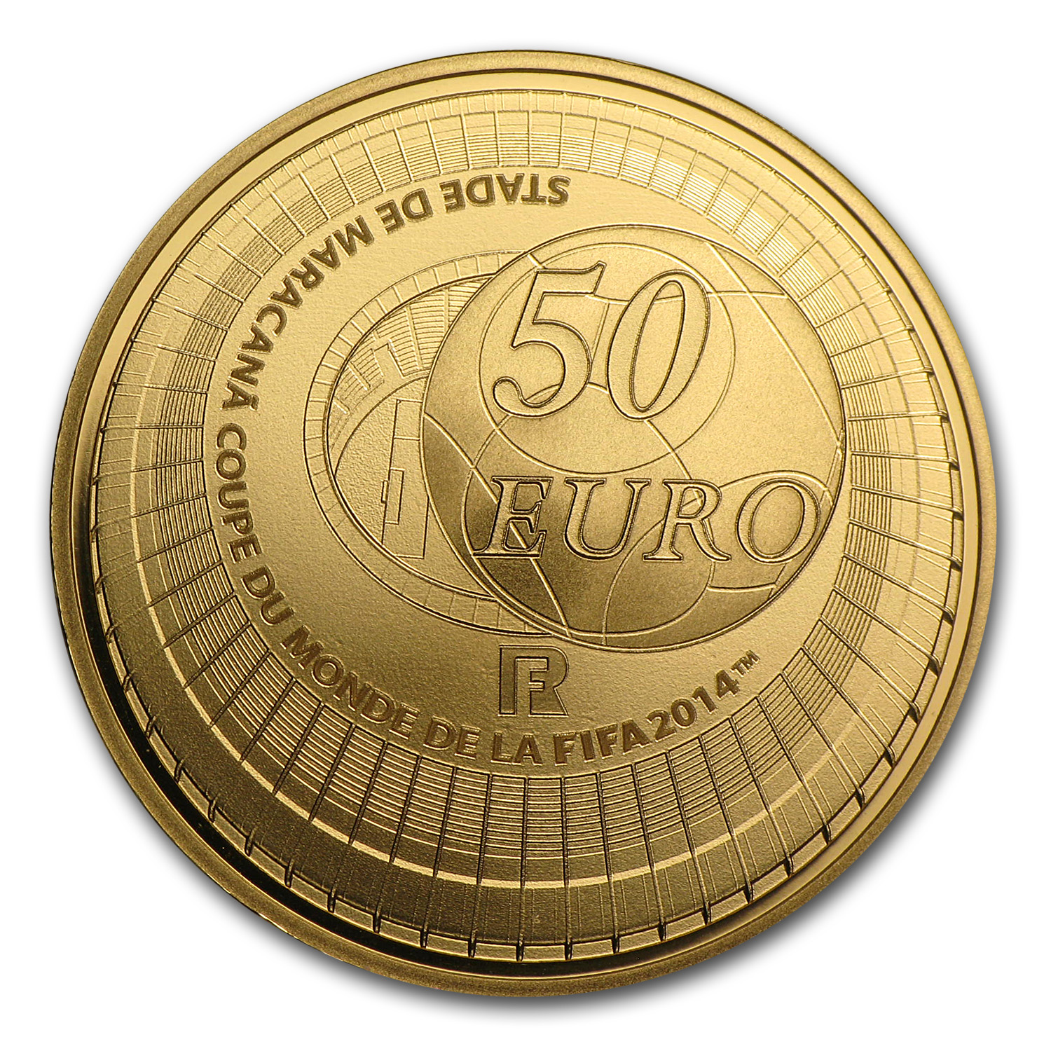 2014 France 50€ 1/4 oz Gold Proof FIFA World Cup