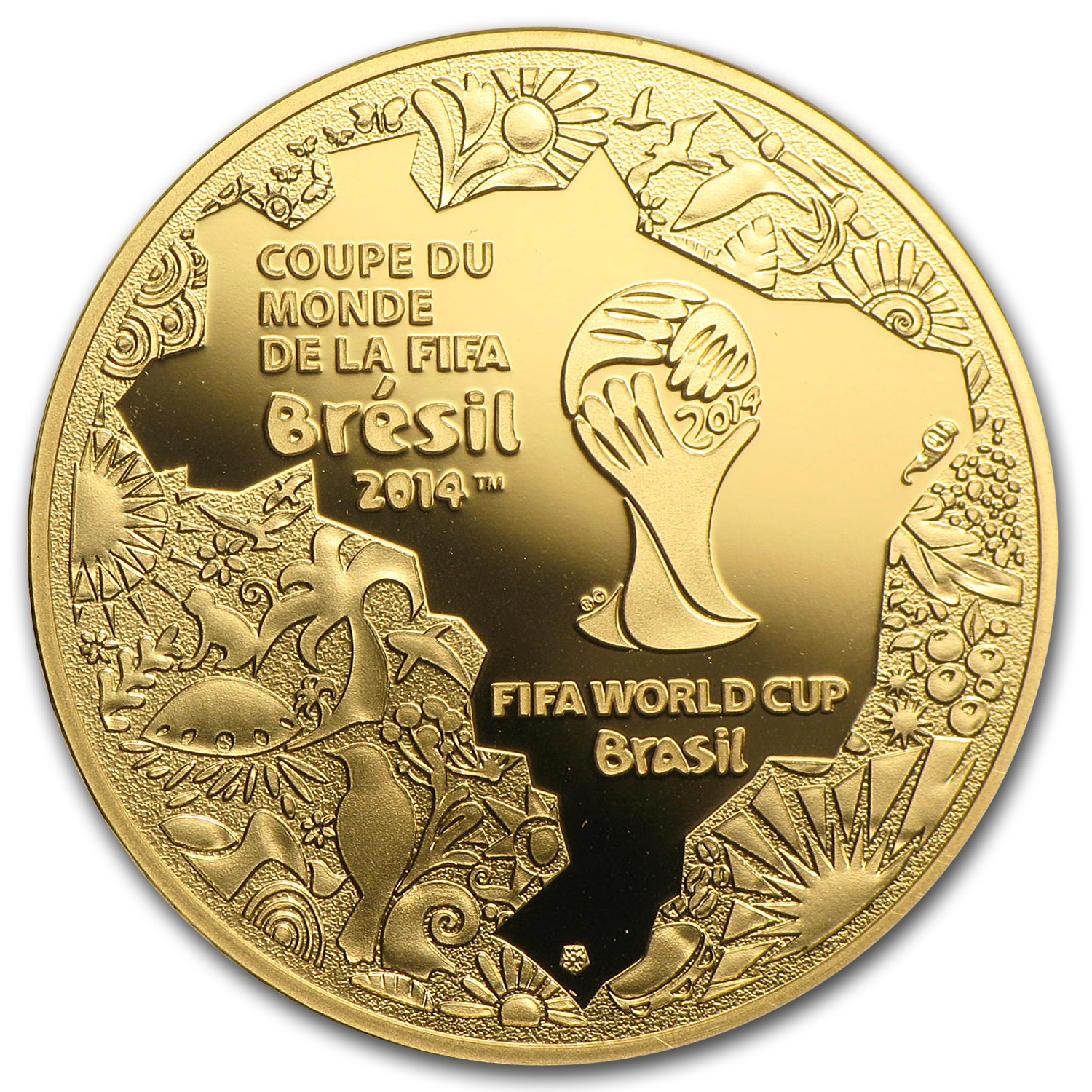 2014 France 1/4 oz Proof Gold €50 FIFA World Cup