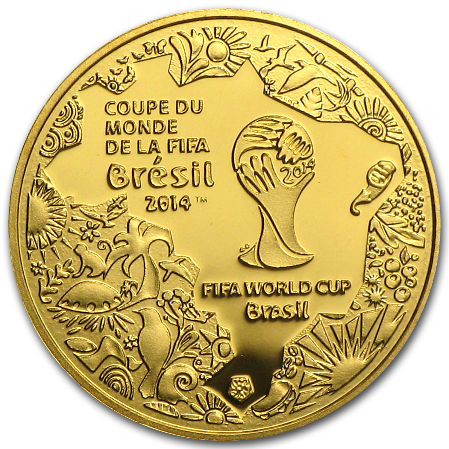 2014 France 1/2 Gram Proof Gold €5 FIFA World Cup