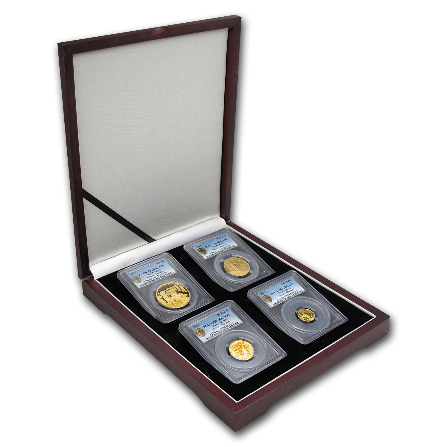 2011 South Africa 4-Coin Gold Natura Meerkat Set PR-69 PCGS